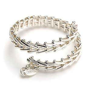 Alex and Ani Gypsy Silver Wrap Bracelet